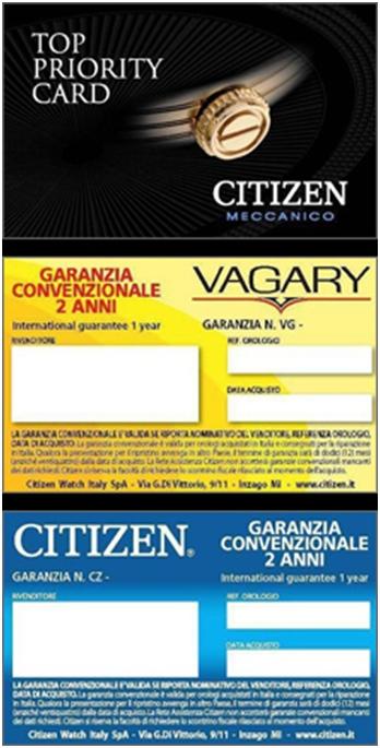 Certificati di garanzia
