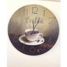 orologio da parete muro vintage caffè bar antichizzato tipo legno
