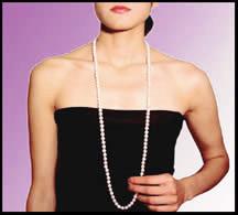 Collana in perle lunghezza 90 cm